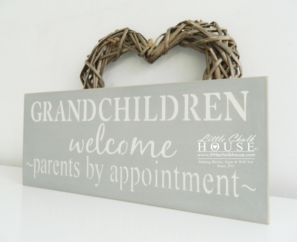 Grandchildren welcome..., wall art - LITTLE CHALK HOUSE