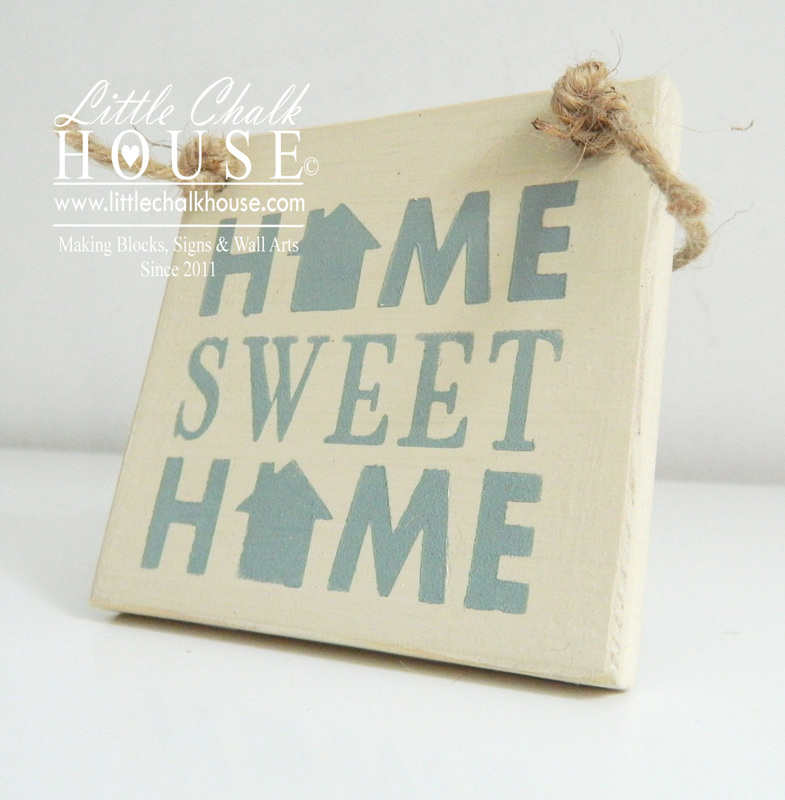Home Sweet Home (house), small sign - LITTLE CHALK HOUSE